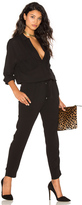 Stella Forest Collared Long Sleeve Jumpsuit