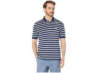 Chaps Men's Classic Fit Striped Cotton Mesh Polo Shirt