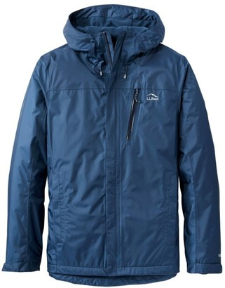 L.L. Bean L.L.Bean Men's Trail Model Rain Jacket, Fleece-Lined