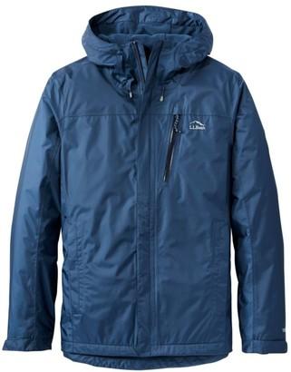 L.L. Bean Men's Trail Model Rain Jacket, Fleece-Lined