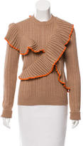 MSGM Ruffle-Accented Wool Top