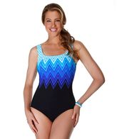 Reebok Women's Electric Lightening One-Piece Swimsuit