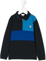 Paul Smith colour block longsleeved polo shirt