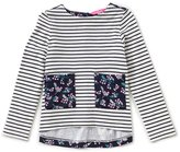 Joules Little Girls 1-6 Ria Striped/Floral Top