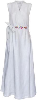 Crossed Dress With Handmade Phulkari Embroidery