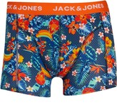Jack and Jones Mens Summer Flower Trunk Boxers Exotic Orange