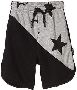 Nununu 1/2 and 1/2 Star Sweatshorts (Infant/Toddler/Little Kids) (Black/Heather Grey) Boy's Shorts