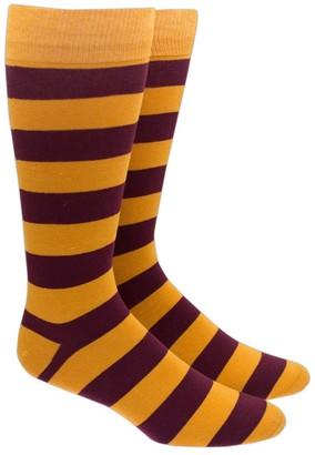 Tie Bar Super Stripe Gold Dress Socks