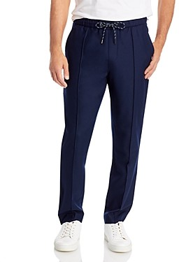 Michael Kors Flannel Pintucked Jogger Pants