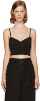 Alexander Wang Black Stretch Ponte Bra