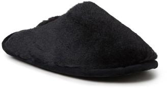 Dearfoams Plush Faux Fur Scuff Slipper