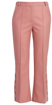 Rokh Button Kick Flare Trousers