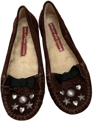 Marc by Marc Jacobs Brown Suede Ballet flats