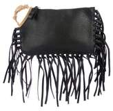 Valentino Fringe & Grained Leather Clutch