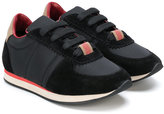 Burberry paneled lace-up sneakers