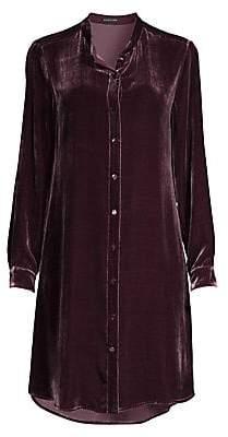 Eileen Fisher Women's Silk Velvet Midi Shirtdress
