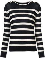 Vanessa Bruno buttoned shoulders striped jumper