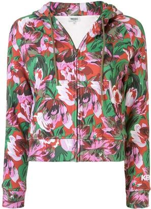 Kenzo x Vans floral zipped hoodie