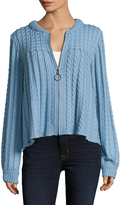 Manoush Women's Wool Cable Knit Cardigan