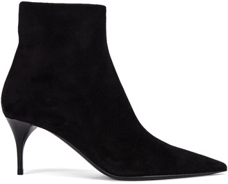 Saint Laurent Lexi Zip Booties in Nero | FWRD