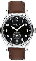 Montblanc 115073 1858 Automatic Small Second Leather Strap Watch, Brown/black