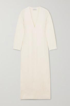 Matteau - Frayed Linen Maxi Dress - Ivory