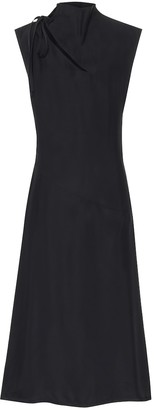 Jil Sander Crepe midi dress