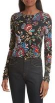 Alice + Olivia Women's Delaina Floral Crop Top