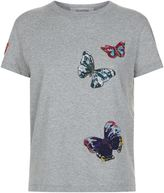 Valentino Beaded Butterfly T-Shirt