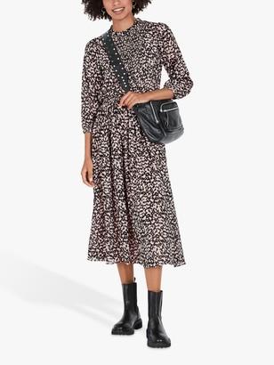 Hush Isabeau Floral Midi Dress, Painterly Petals