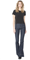 Alice + Olivia Black Lana T Shirt W Rib Trim