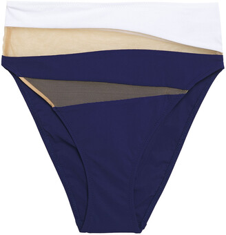 Emma Pake Mesh-paneled High-rise Bikini Briefs