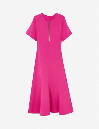Stella McCartney Compact round-neck woven midi dress