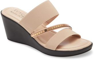 TUSCANY by Easy Street Monaco Wedge Slide Sandal