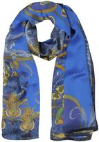 Mila Schon Ornamental and Pattern Printed Satin Silk Stole
