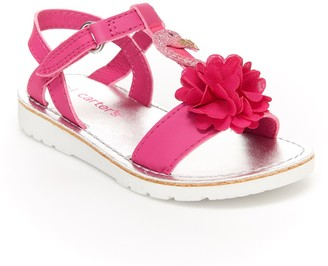 Carter's Wenna Flower T-Strap Sandal (Toddler)