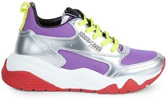 Roberto Cavalli Sport Mixed-Media Sneakers