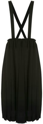 Black Comme Des Garçons Crossover Straps Dungaree Dress