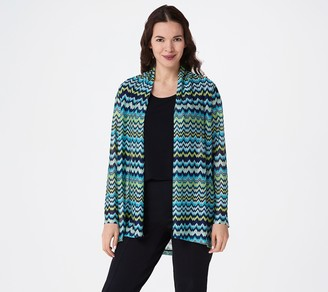Susan Graver Sweater Knit Open Front Long-Sleeve Cardigan
