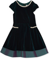 Rare Editions Velvet Party Dress, Toddler Girls (2T-5T), Created for Macy's