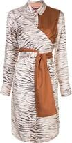 Thumbnail for your product : Sies Marjan Zebra Print Shirt Dress