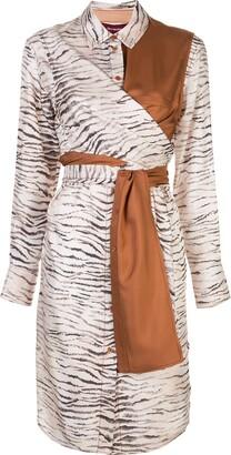 Sies Marjan Zebra Print Shirt Dress