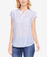 Vince Camuto Striped Cap-Sleeve Top