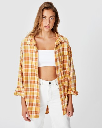 Cotton On Relaxed Flannel Shirt