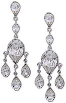 Nina Silver-Tone Swarovski Crystal Teardrop Chandelier Earrings