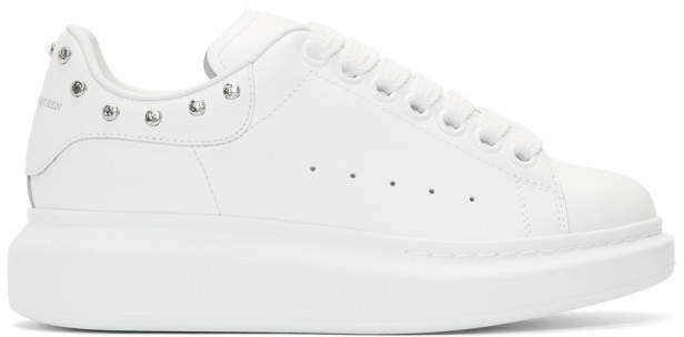 Alexander McQueen White Studded Oversized Sneakers