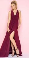 Mac Duggal Criss Cross Back Ruched Jersey Prom Dress