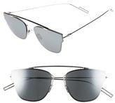 Christian Dior Men's 57Mm Semi Rimless Sunglasses - Dark Ruthenium