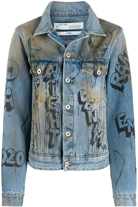 Off-White Distressed Effect Denim Jacket