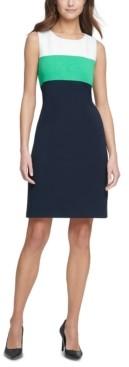 Tommy Hilfiger Petite Colorblocked A-Line Dress